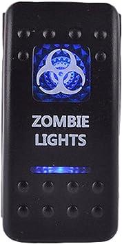 E Support 12v Auto Kfz Blau Led Lichtleiste Beleuchtet Wippenschalter Kippschalter Auto Armaturenbrett Schalter Zombie Light Auto