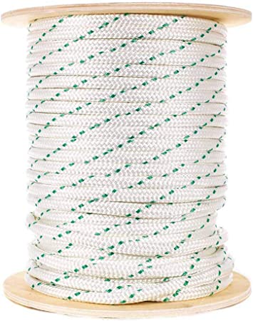 CABLE PULLING ROPE,ANCHOR LINE   9//16 x 100/' DOUBLE BRAID POLYESTER  USA w//LOOP