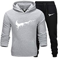 Men's Tracksuit Thermal Men Sportswear Sets Thick Hoodie+Pants Sporting Suit Casual Sweatshirts Sport Suit