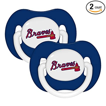 Amazon.com: Baby Fanatic Pacifier (2 Pack) - Atlanta Braves ...