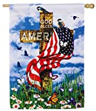 God Bless America Cross Flag
