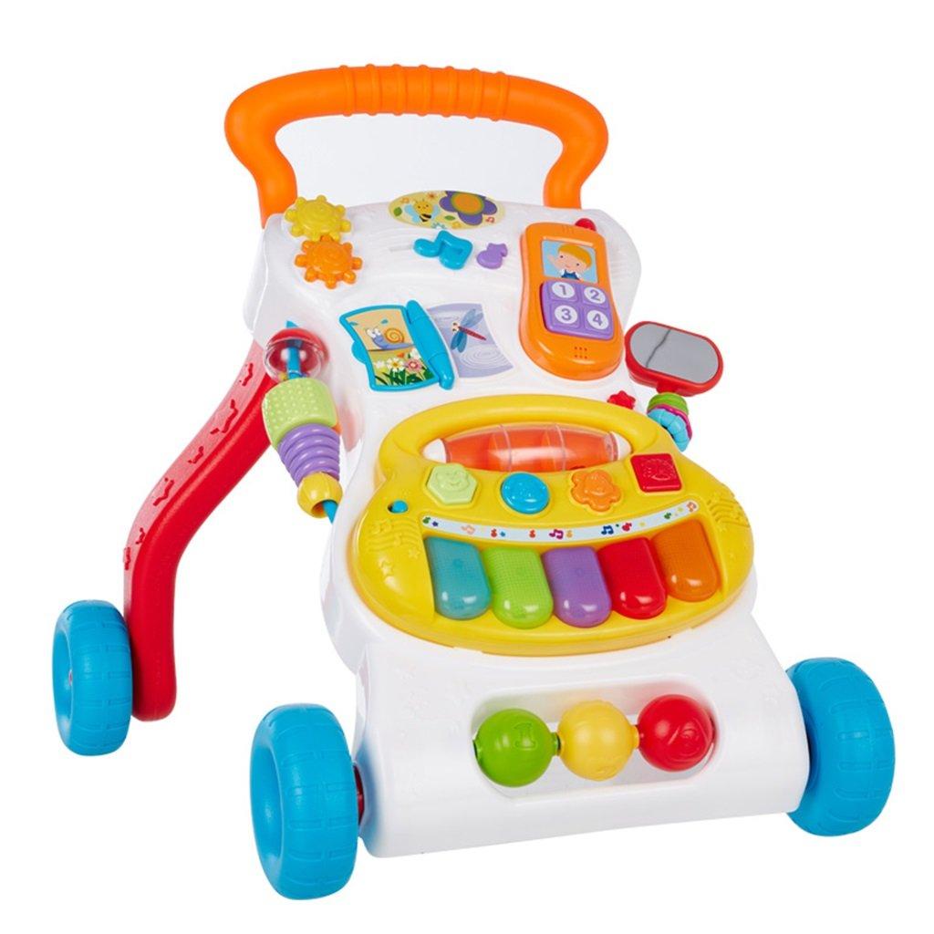 HAIZHEN マウンテンバイク ABSベビーウォーカートロリーアンチロールオーバーおもちゃの幼児チャイルドスピード18ヶ月2歳ウォーカー42 * 34 * 43センチメートル 新生児 B07DMPLF8Z