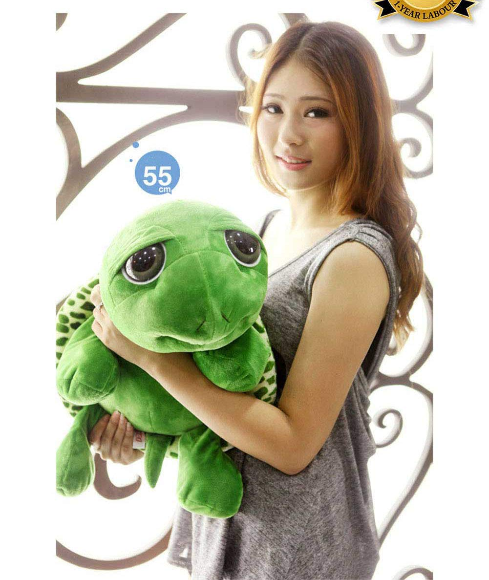 GeniusCells Big Stuffed Animal Turtle Travel Pillow for Sleeping and Hugging Cute & Warm Tortoise Toys