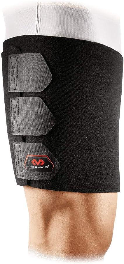 Banda ajustable de neopreno para muslo apoyo de lesiones para hombres y mujeres Yosoo Groin Support negro banda de compresi/ón para recuperaci/ón
