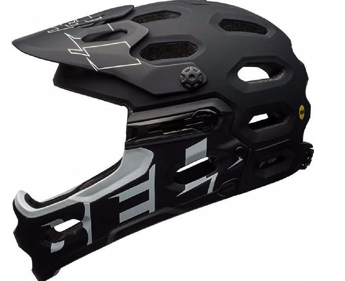 Amazon.com: Bell Super 3R Mips Matte Black White Full Face Mountain Bike Helmet: Clothing
