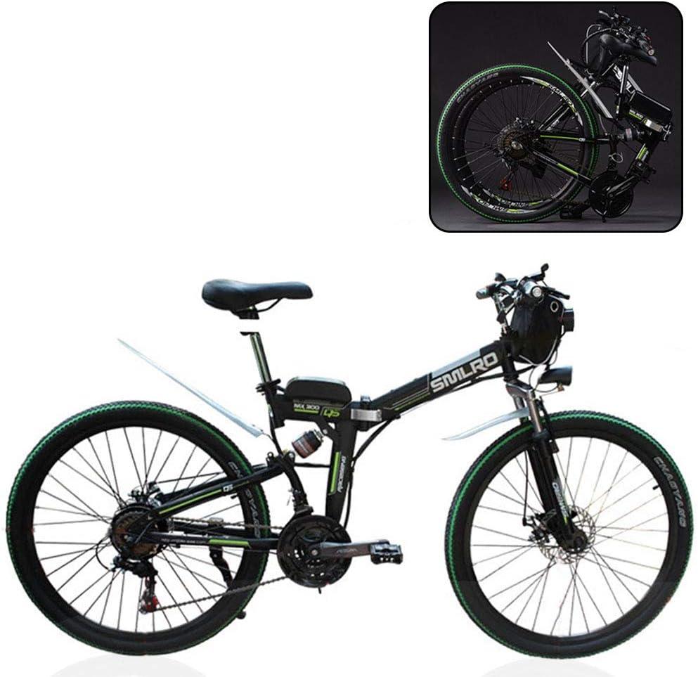 MIRC Bicicleta de montaña eléctrica, Bicicleta eléctrica Plegable, batería eléctrica de Litio Plegable para Adultos: Amazon.es: Deportes y aire libre