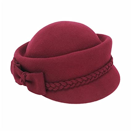 Image Unavailable. Image not available for. Color  Dig dog bone Spring and  Autumn Wool Female Hat Pure ... ce932debe616