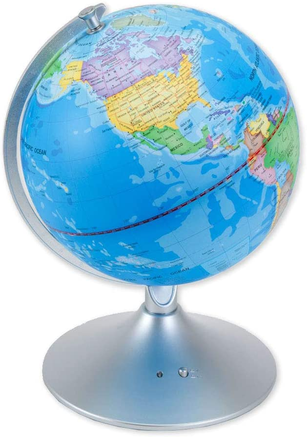 Bits and Pieces - Constellation Globe - 14 inch Illuminated Globe - Earth and Star Constellations - Great Gift for a Young Astronomer - 2-in-1 World Globe and Constellation