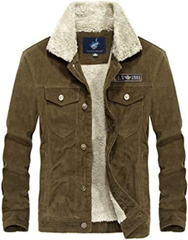 MT/&HEOST Men Warm Jacket Casual Parkas Mens Coat Single Breasted Outerwear