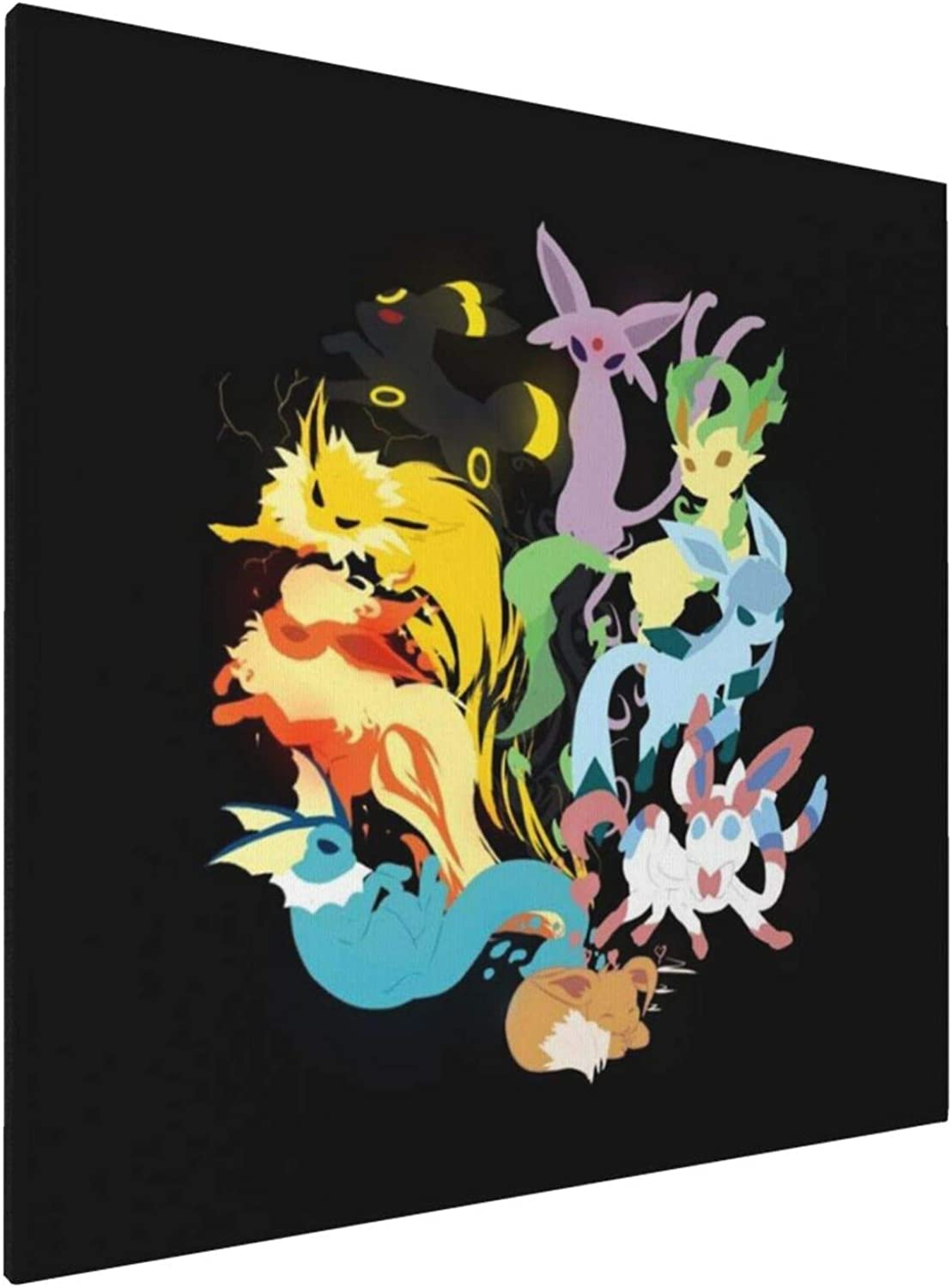1007 Canvas Prints Wall Art Paintings(20x20in) Monster of The Pocket Eeveelutions Pictures Home Office Decor Framed Posters & Prints