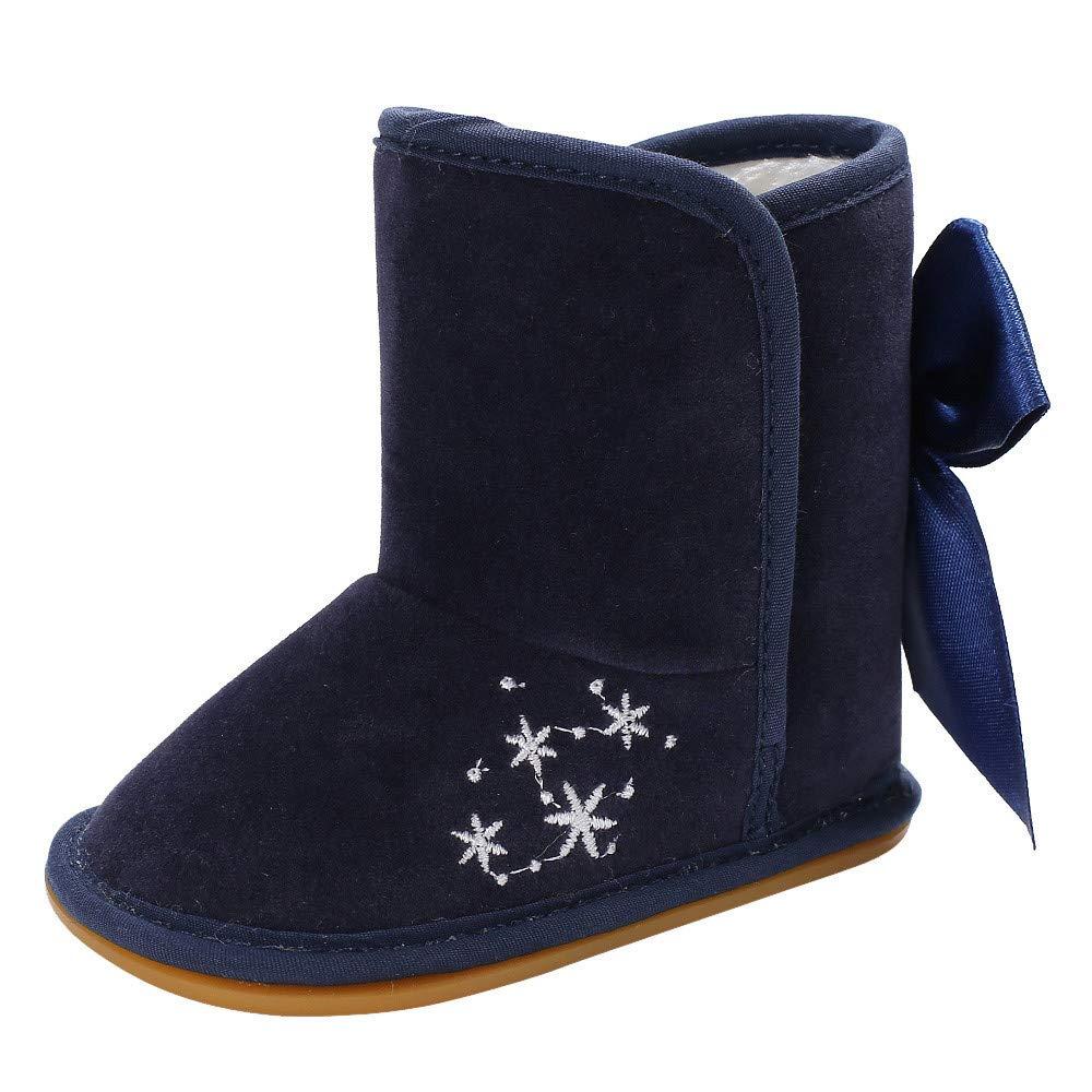 ❤️ Zapatos de niñ a con Suela para Vestir, Zapatos de Bota de Nieve Antideslizante para bebé s recié n Nacidos Botas niñ as Piel Absolute