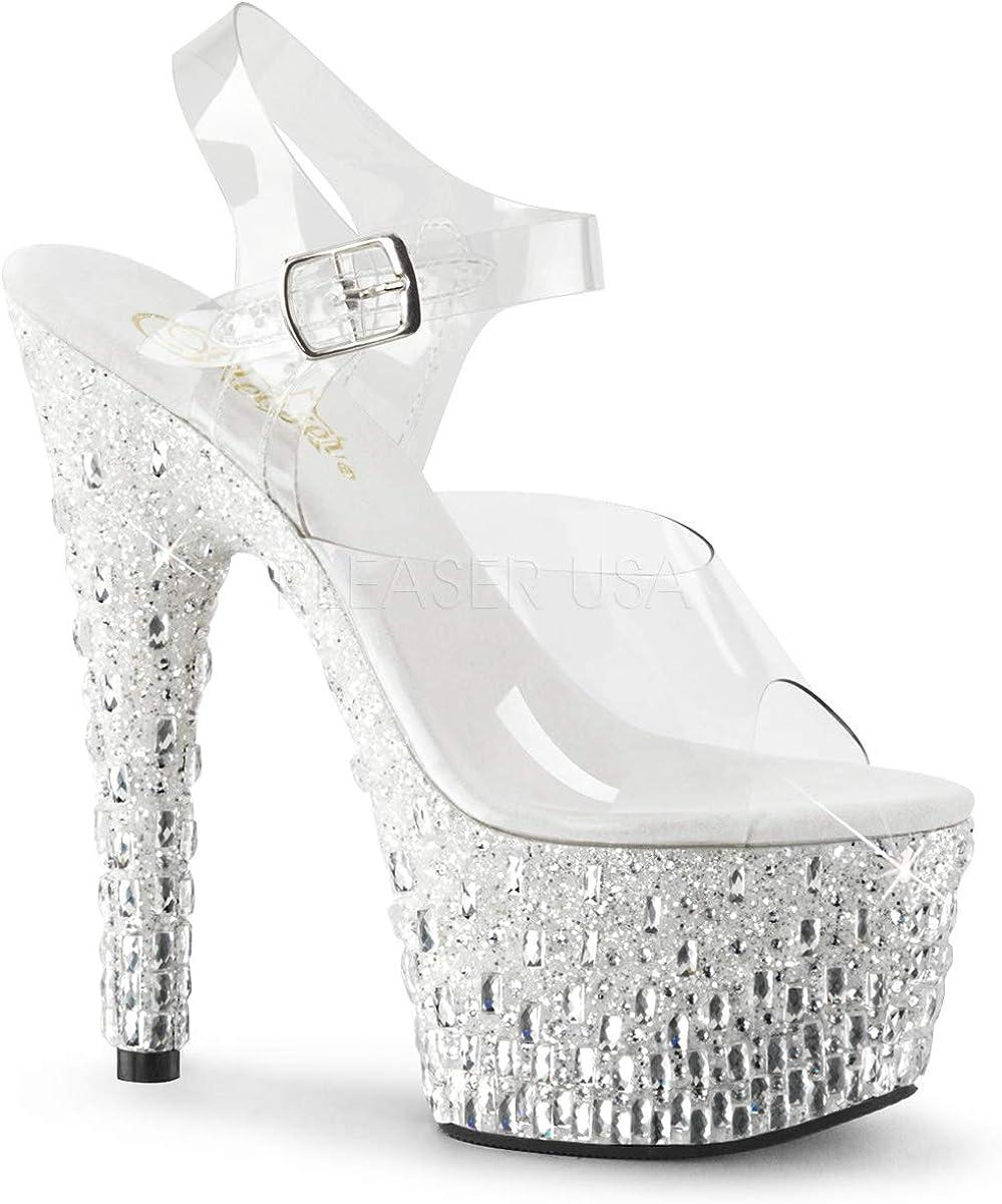 Pleaser Womens Ado708mr-5//c//w-s Platform Sandal