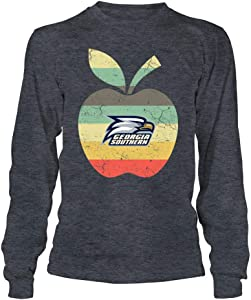 FanPrint Georgia Southern Eagles T-Shirt - Teacher - Apple Vintage Graphic - If-Ic13-Ds45