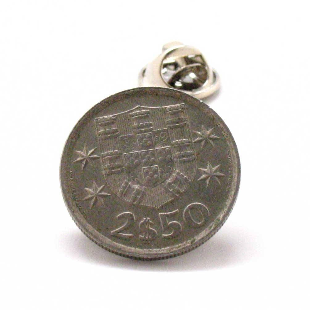 Marcos Villa Portugal Coin Tie Tack Lapel Pin Flag Lisbon joalheria alfinete de lapela Amarração Sintra moeda bandeira