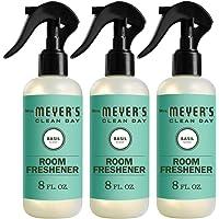 Mrs. Meyer's Clean Day Room Freshener, Basil Scent, 8 Ounce Non-aerosol Spray Bottle (Pack of 3)