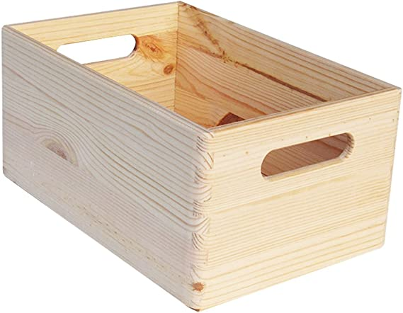 Europe & Nature almacenaje Caja 40 x 30 x 15-kairus 2, Madera ...