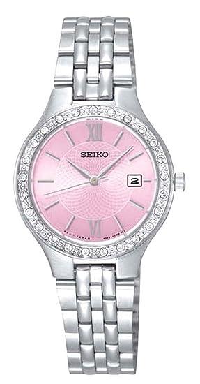 Seiko Reloj Analogico para Mujer de Cuarzo con Correa en Acero Inoxidable SUR765P9: Amazon.es: Relojes
