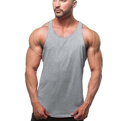 Butterme Hombres de Algodón Sin Mangas Chaleco Sin Mangas Camisetas Training Sports Gym Muscle Tee Camiseta