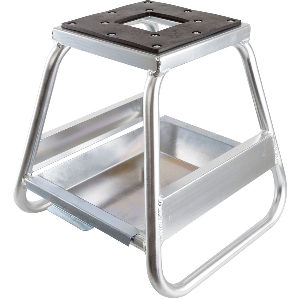 Rage Powersports MX-STAND-ALUM-LITE Polished Aluminum Dirt Bike Stand with Removable Oil Pan