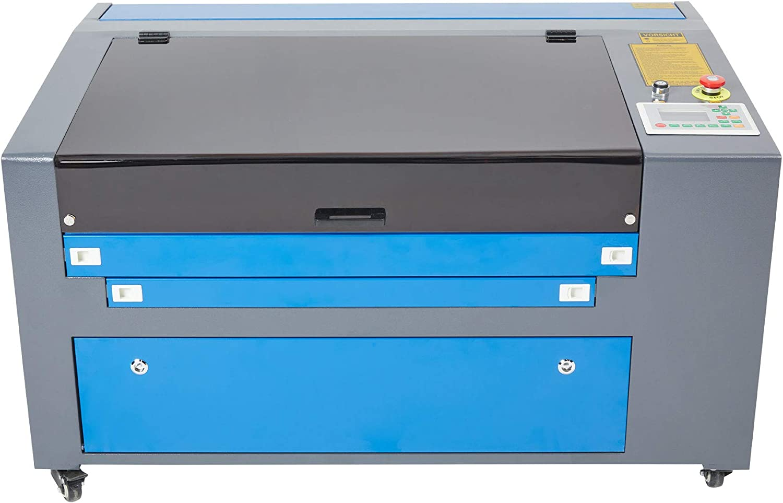 Z ZELUS 80W CO2 Laser Graviermaschine 500 x 700 mm Laser Engraving Maschine Red Dot Pointer RDworks mit USB Anschluss kompatibel mit CorelDRAW Corellaser 500 x 700 mm // 80 W