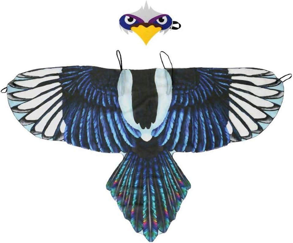 Winthai Divertido simulación pájaro alas Traje con Diadema para ...