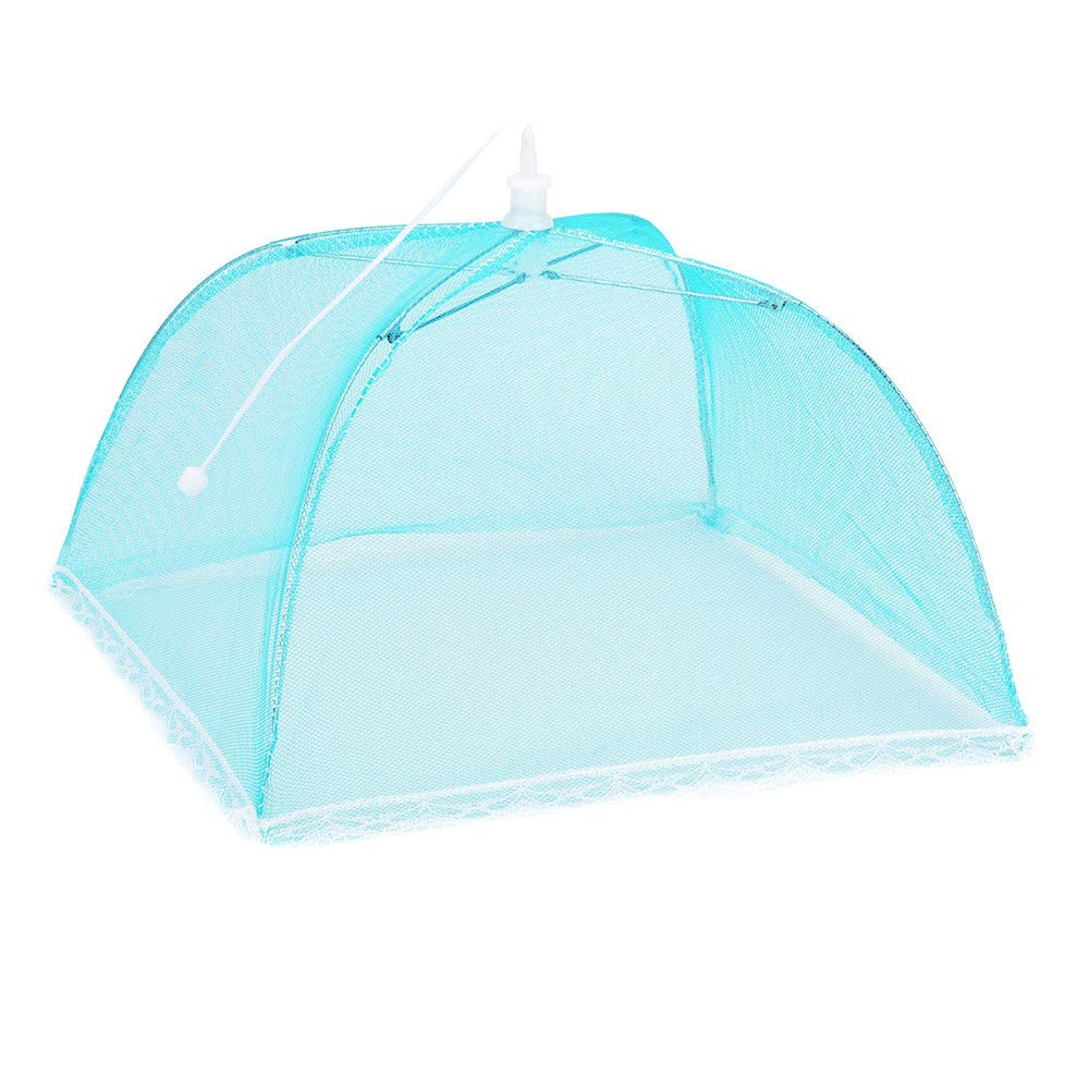 Lanhui 1 Large Pop-Up Mesh Screen Home Protect Food Cover Tent Dome Net Umbrella Picnic (Medium, Blue)
