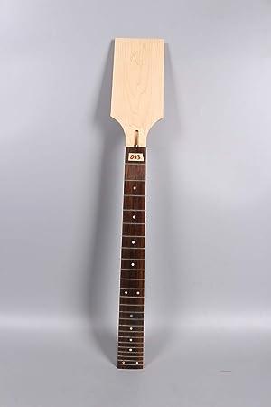 Yinfente - Cuello para guitarra de arce (24 trastes, madera de ...