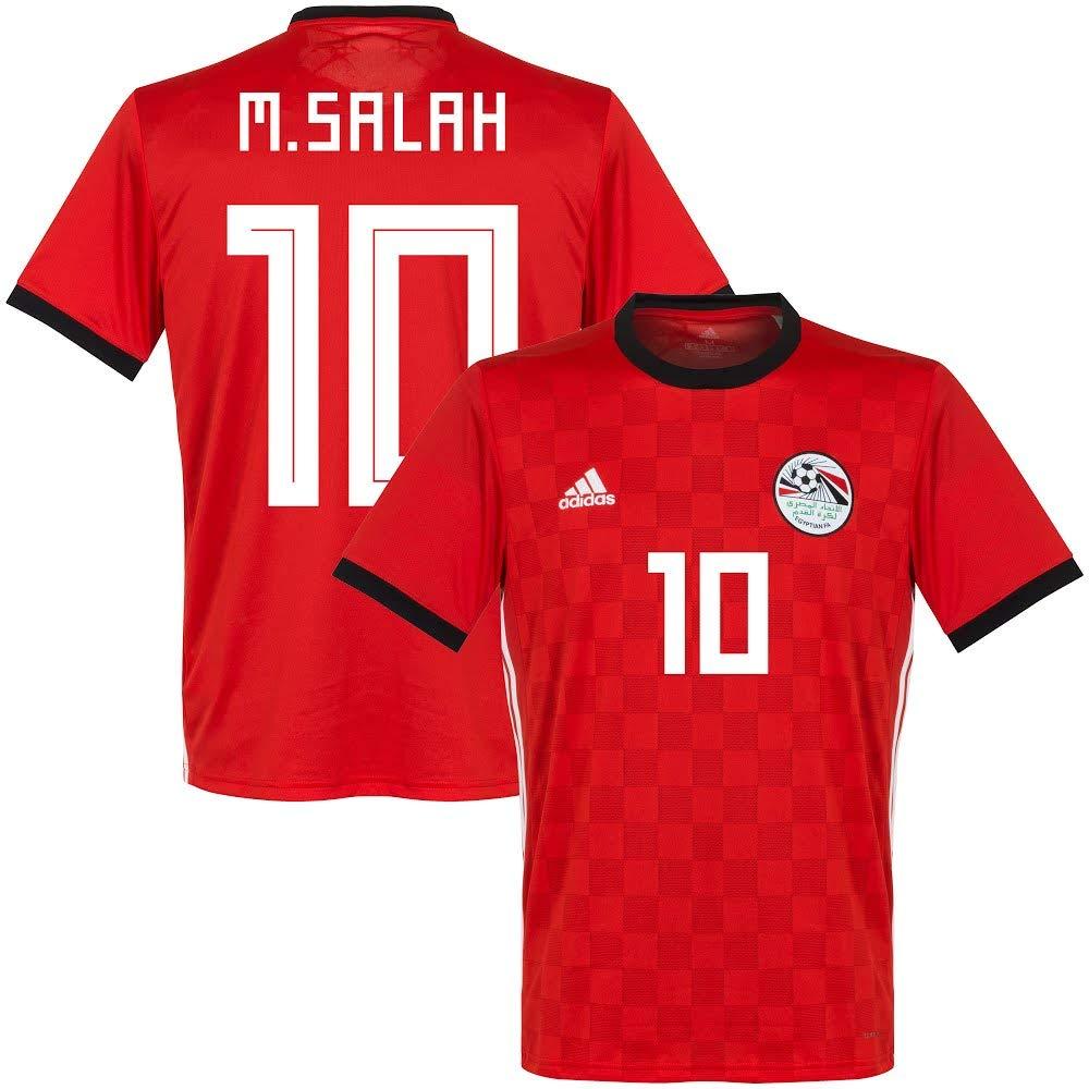premium selection d5433 fcf56 Amazon.com : adidas Egypt Home M. Salah Jersey 2018/2019 ...