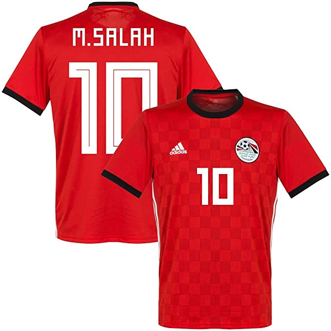 3d509bad342 Amazon.com   adidas Egypt Home M. Salah Jersey 2018 2019 (Official  Printing)   Sports   Outdoors