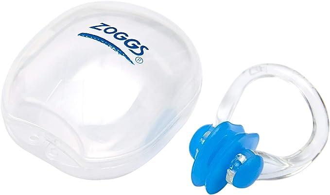 Soccik Elastic Swimming Nose Clip Cord Silicone Swimming Nose Clip Protector Silicone Nose Clip with Plastic Box