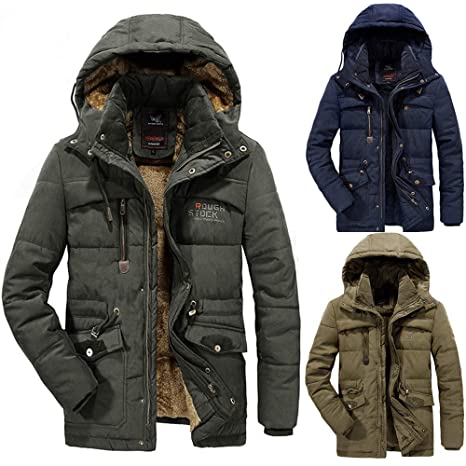 Amazon.com : Ennglun Mens Winter Coats, Mens Winter Velvet Thickened Plus Size Padded Windproof Warm Padded Coat, Tactical Coats : Sports & Outdoors