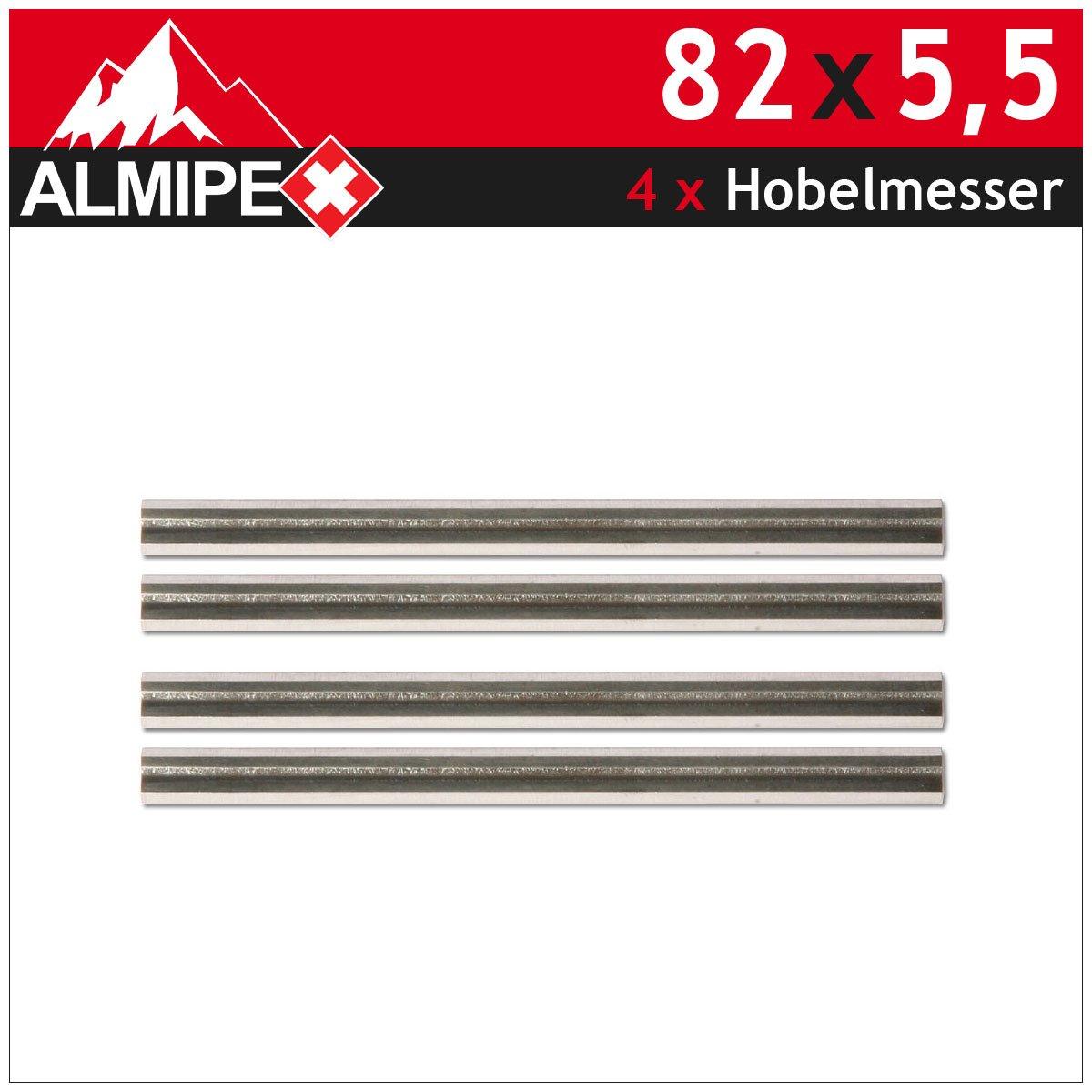 4x Hobelmesser HSS Ersatzmesser HM Wendemesser fü r Elektrohobel 82 x 5, 5 ALMIPEX