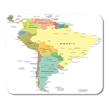 Amazon.com : Emvency Mouse Pads Central South America Map ... on map of spain, map of bahamas, map of jamaica, map of argentina, map of united states, map of middle east, map of amazon river, physical map latin america, map of caribbean, map of atacama desert, map of puerto rico, map of canada, map of falkland islands, countries in south america, map of saudi arabia, map of costa rica, map of ecuador, map of bolivia, map of west indies, map of guyana,