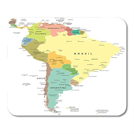 Amazon.com : Emvency Mouse Pads Central South America Map ... on