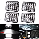 (4pcs) Dot approved 4x6 inch LED Headlights Rectangular Replacement H4651 H4652 H4656 H4666