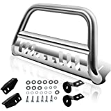 "AUTOSAVER88 Bull Bar Compatible for 2007-2021 Toyota Tundra/2007-2018 Sequoia, 3"" Stainless Steel Tubing Brush Push Bar…"