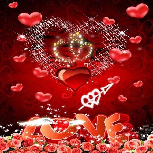 GladsBuy Beautiful Love 10' x 10' Digital Printed Photography Backdrop Valentine's Day Theme Background YHA-213 by GladsBuy