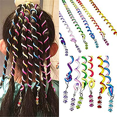 Bbacb 12 piezas de las niñas Espiral Spinning Hair Tool Mujeres ...