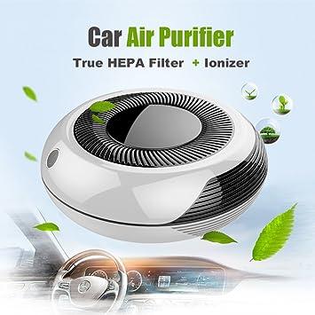 Wosports coche purificador de aire con filtro HEPA, 8 Million iones negativos ionizador y cigarrillos