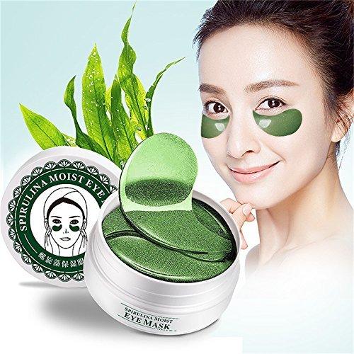 Oshide Spiral Seaweed Anti-Aging Collagen Anti Wrinkle Crystal Eye Pads Patches Anti-aging Removing Dark Circles Under-eye Puffiness Eye Wrinkles (60pcs) ()