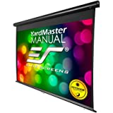 Elite Screens Yard Master Manual Series, 100-inch Diagonal 16:9, Outdoor Pull Down Projection Manual Projector Screen with Auto Lock, OMS100HM