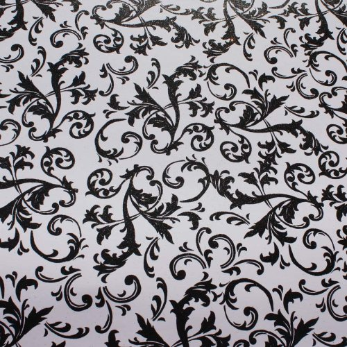 Swirl 12x12 Scrapbook Paper (Robins Nest The Glitter Black on White Swirl Scrapbook Accessory)