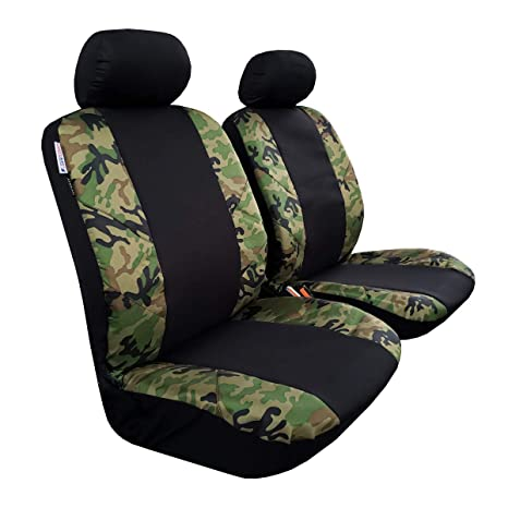 Camouflage Camo Waterproof Fabric Cover Car//Van Front Rear Universal Seat Covers