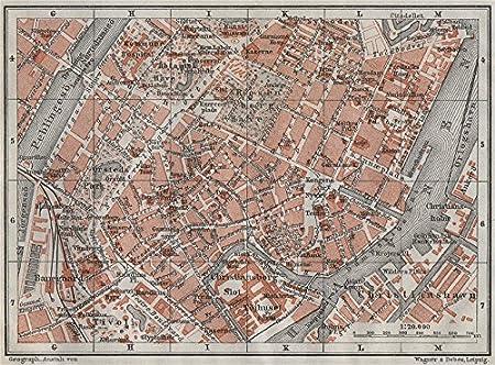Amazon Com Copenhagen Kobenhavn Kobenhavn Inner Town City Byplan
