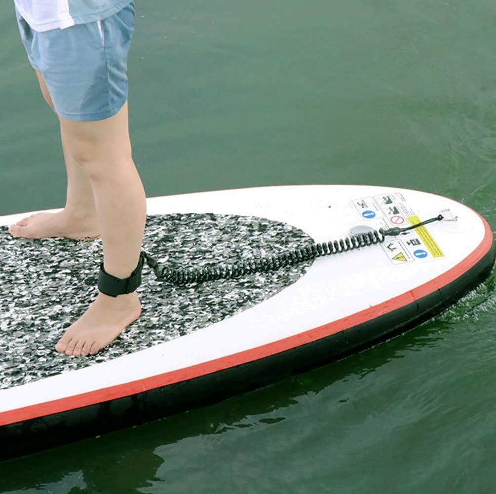 Lacci di sicurezza da Surf Leash de Tabla de Surf Cuerda para Pierna Tabla de Paddle de pie Correa de Tobillo Tabla de Soporte Correa en Espiral Seguridad para el Surf