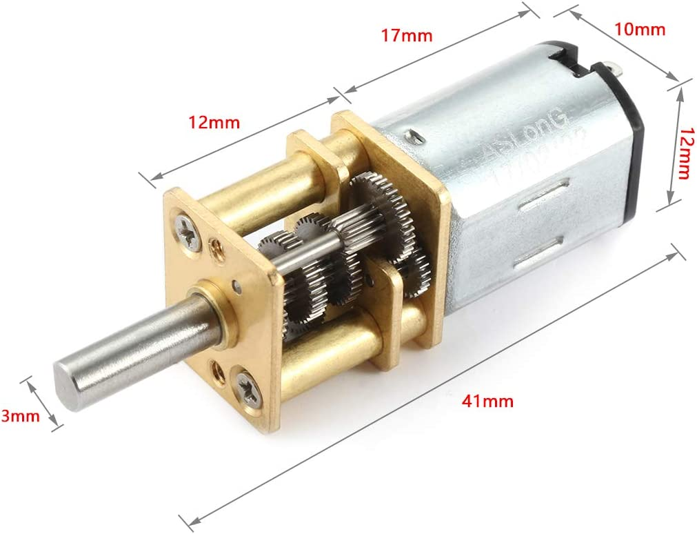 Beennex Micro Type DC Speed Reduction Motor Large Torsion Worm Gear Motor 6V 25RPM
