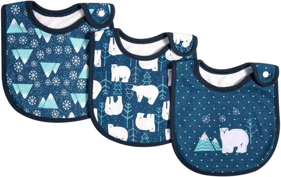 Decdeal Set de 3 Baberos para bebés 100% algodón orgánico Babeo Dentición Babero Súper Absorbente con Botón a presión Durante 0-36 Meses bebés: Amazon.es: Hogar