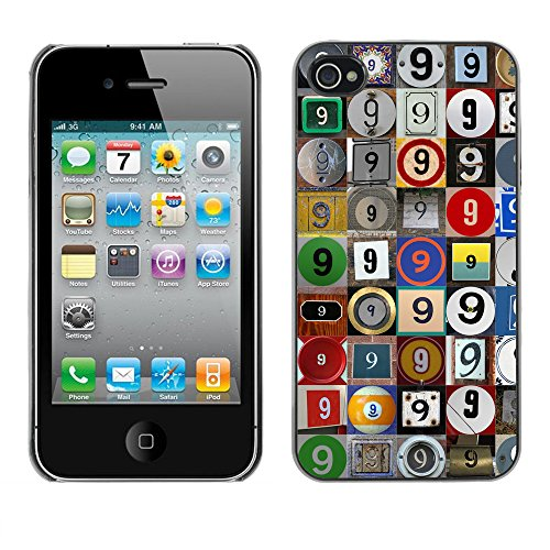 Premio Sottile Slim Cassa Custodia Case Cover Shell // F00021441 Photomosaic du 9 // Apple iPhone 4 4S 4G