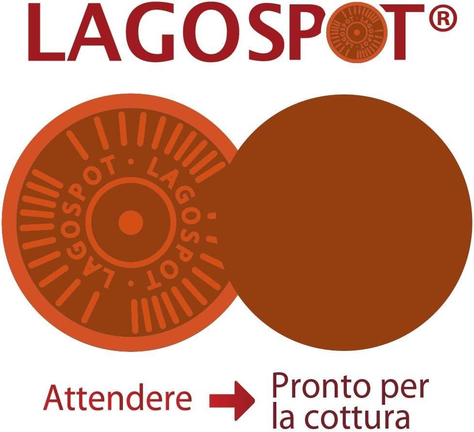 Nero//Rosso Lagostina Linea Rossa Padella Acciaio Inossidabile