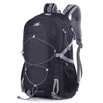Mooedcoe 40L Mochila Senderismo Montaña Trekking Macutos de Viaje Acampada Marcha (Negro): Amazon.es: Deportes y aire libre